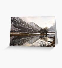 Winter in lakeland Greeting Card