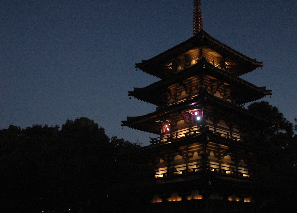 Twilight Pagoda by zamix