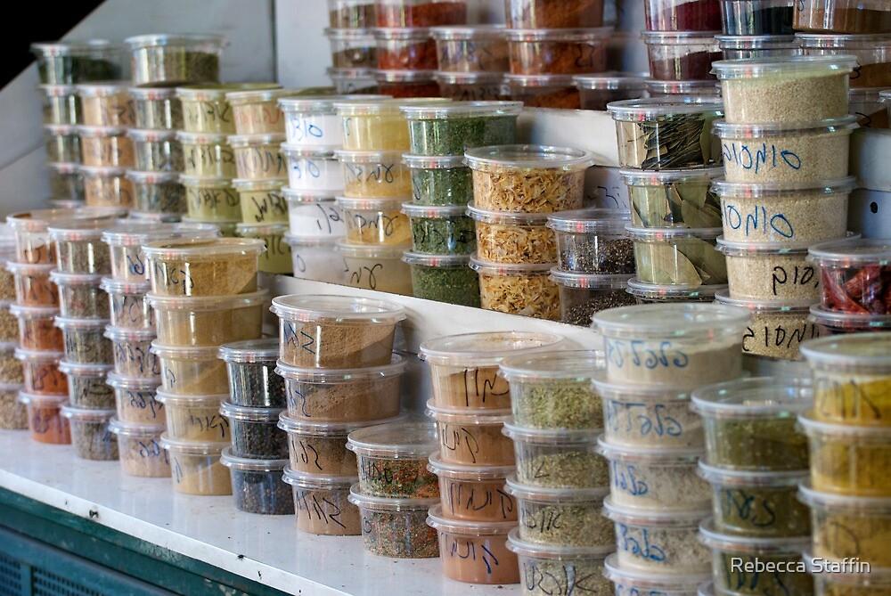 Spices, Jerusalem Market by Rebecca Staffin
