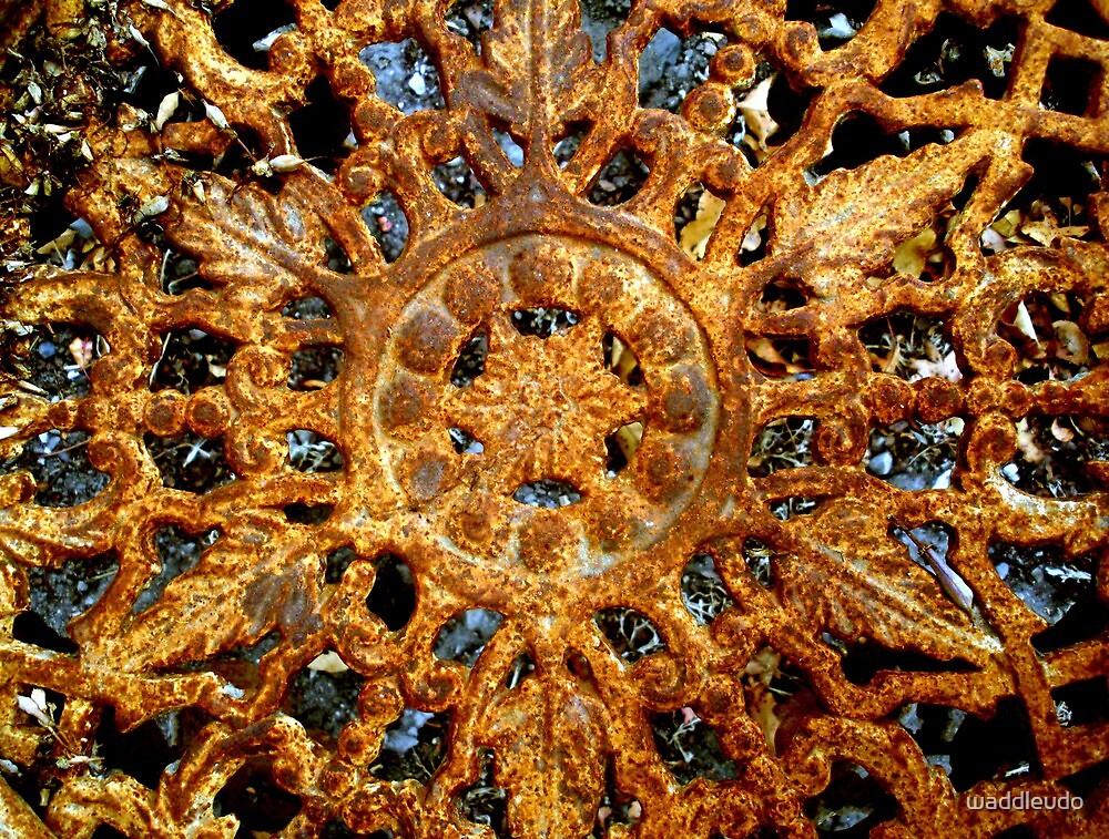 Rusty Wrought Iron Mandala by waddleudo