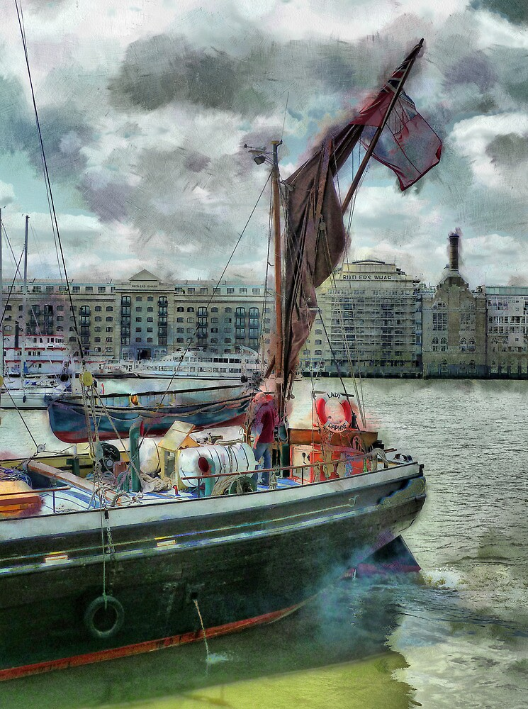 The Sailing Barge Lady Daphne by PictureNZ
