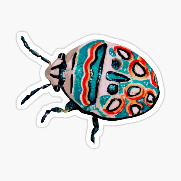 Colorful Picasso Beetle Sticker - art Sticker