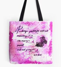 Feeling Gratitude Quote Tote Bag