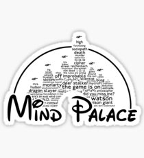 Mind Palace - (black text) Sticker