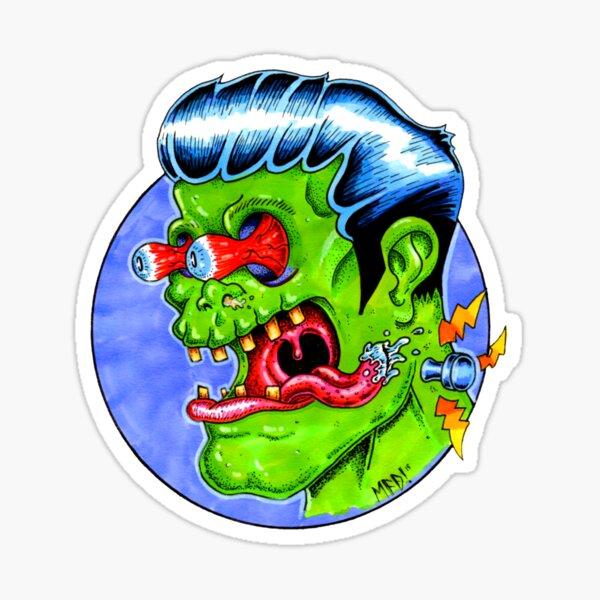 Freaky Frankie (Color) Sticker