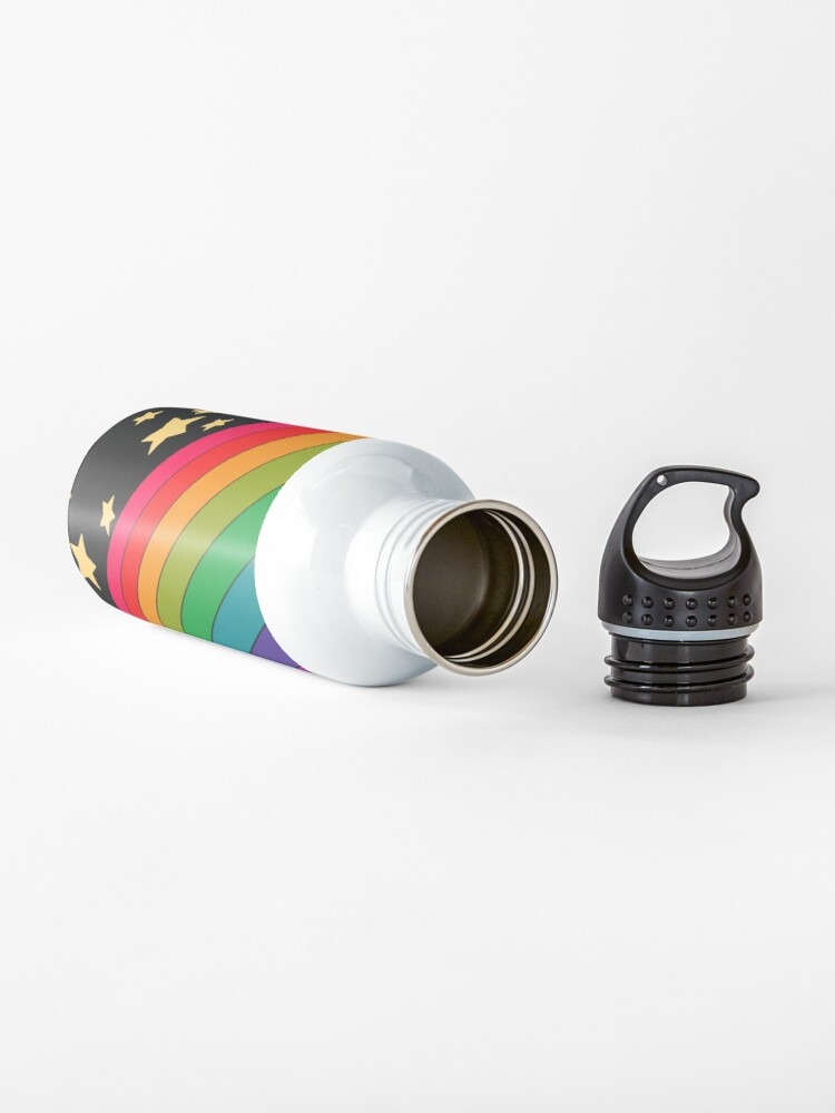 Alternate view of Stars and rainbow  Water Bottle