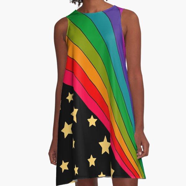Stars and rainbow  A-Line Dress
