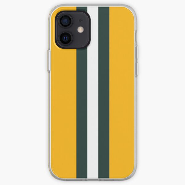 Green Bay Packers Stripes Design iPhone Soft Case