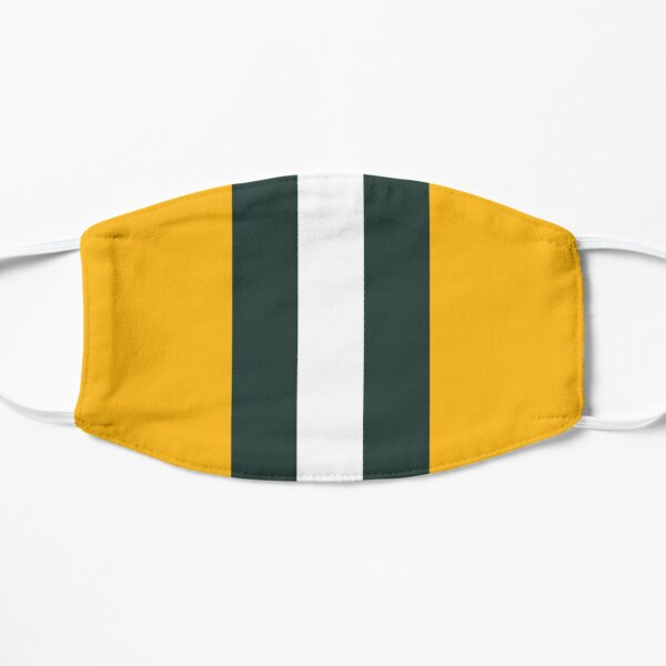 Green Bay Packers Stripes Design Flat Mask