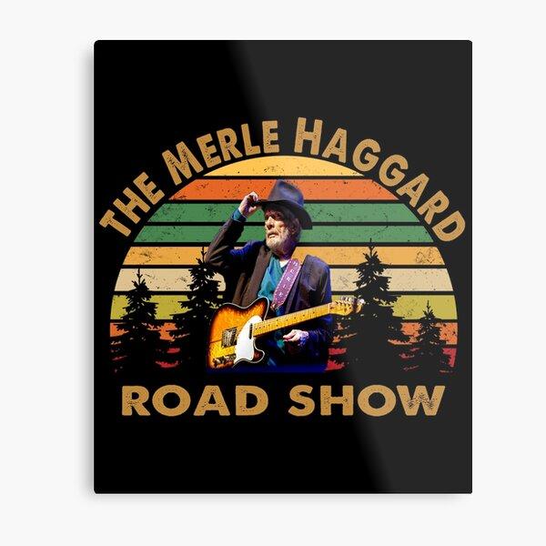 The Merle Haggard Road show retro Metal Print
