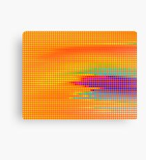 Colorful Retro Dots Painting Abstract Art Wrapped Canvas Canvas Print