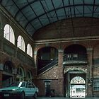 Looking through Mining Exchange Ballarat toward street 19891102 0001  by Fred Mitchell