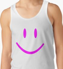 PINK SMILEY FACE Tank Top