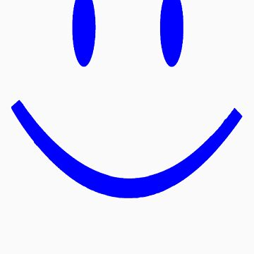 BLUE SMILEY FACE by customclothes