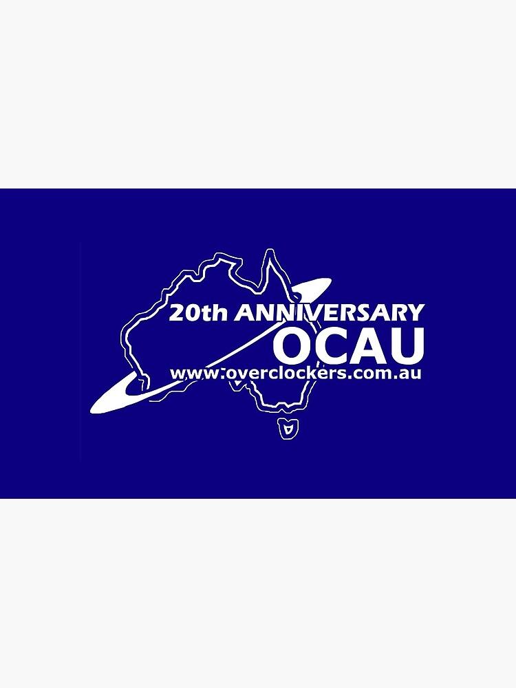 OCAU Blue Single Logo Mug Design by OCAU
