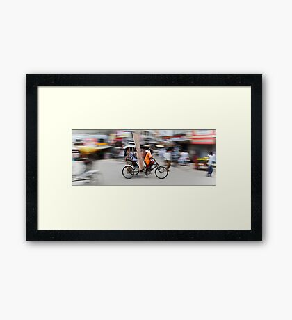 Beating the Traffic Framed Print