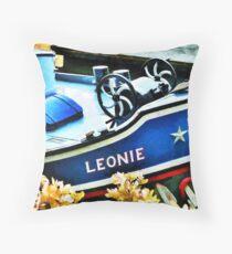 Leonie the Dutch Barge Throw Pillow