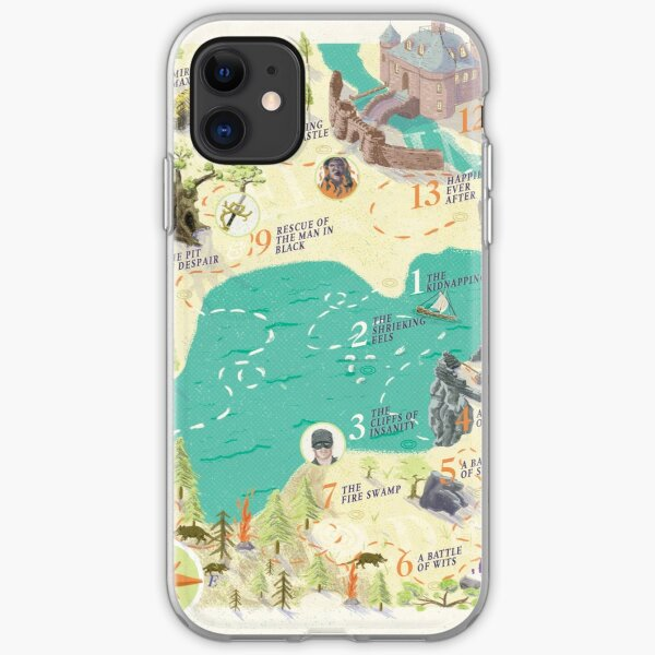 Princess Bride Discovery Map iPhone Soft Case