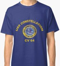 USS Constellation (CV-64) Crest for Dark Colors Classic T-Shirt