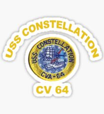 USS Constellation (CV-64) Crest for Dark Colors Sticker