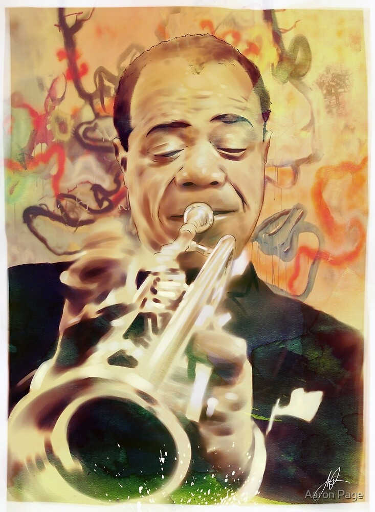 Louis Armstrong by Aaron Page