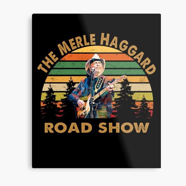 The Merle Haggard Vintage Road show retro Metal Print