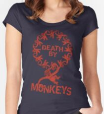Death by 12 monkeys Women's Fitted Scoop T-Shirt