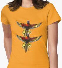 rainbow lorikeet t-shirt Women's Fitted T-Shirt