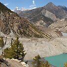 Manang Valley, Annapurna Circuit, Nepal by Richard  Stanley