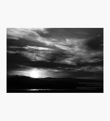 Sunset in black and white Photographic Print