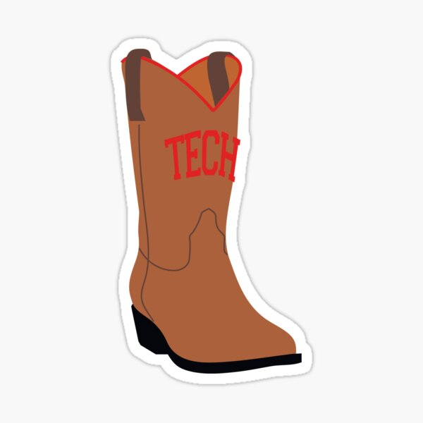 head over boots for tech Sticker