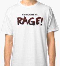 I would like to RAGE! (Variant) - Critical Role Quotes Classic T-Shirt