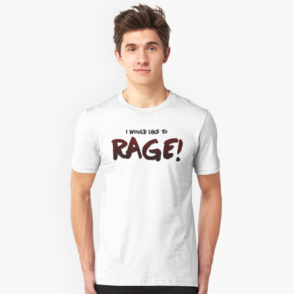 I would like to RAGE! (Variant) - Critical Role Quotes Unisex T-Shirt Front