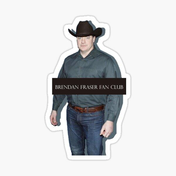 Brendan Fraser Fan Club Sticker