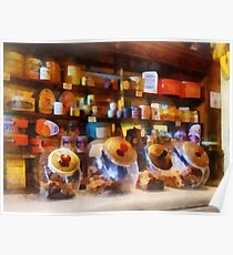 Four Glass Candy Jars Poster