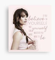 Believe In Yourself - Lea Michele Metal Print