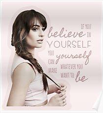 Glaube an dich selbst - Lea Michele Poster