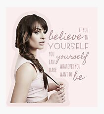 Believe In Yourself - Lea Michele Photographic Print