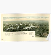 Panoramic Maps Oconomowoc Waukesha and the lake region of Waukesha County Wisconsin Poster