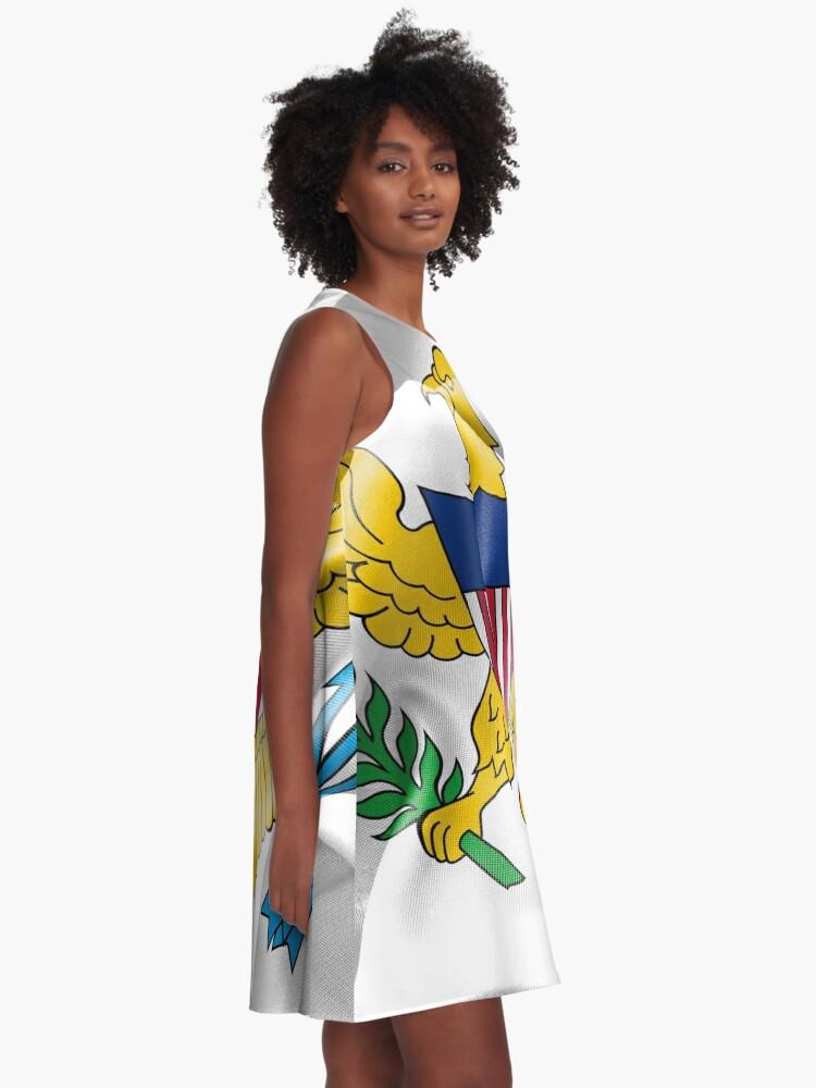 Alternate view of United States Virgin Islands Flag A-Line Dress