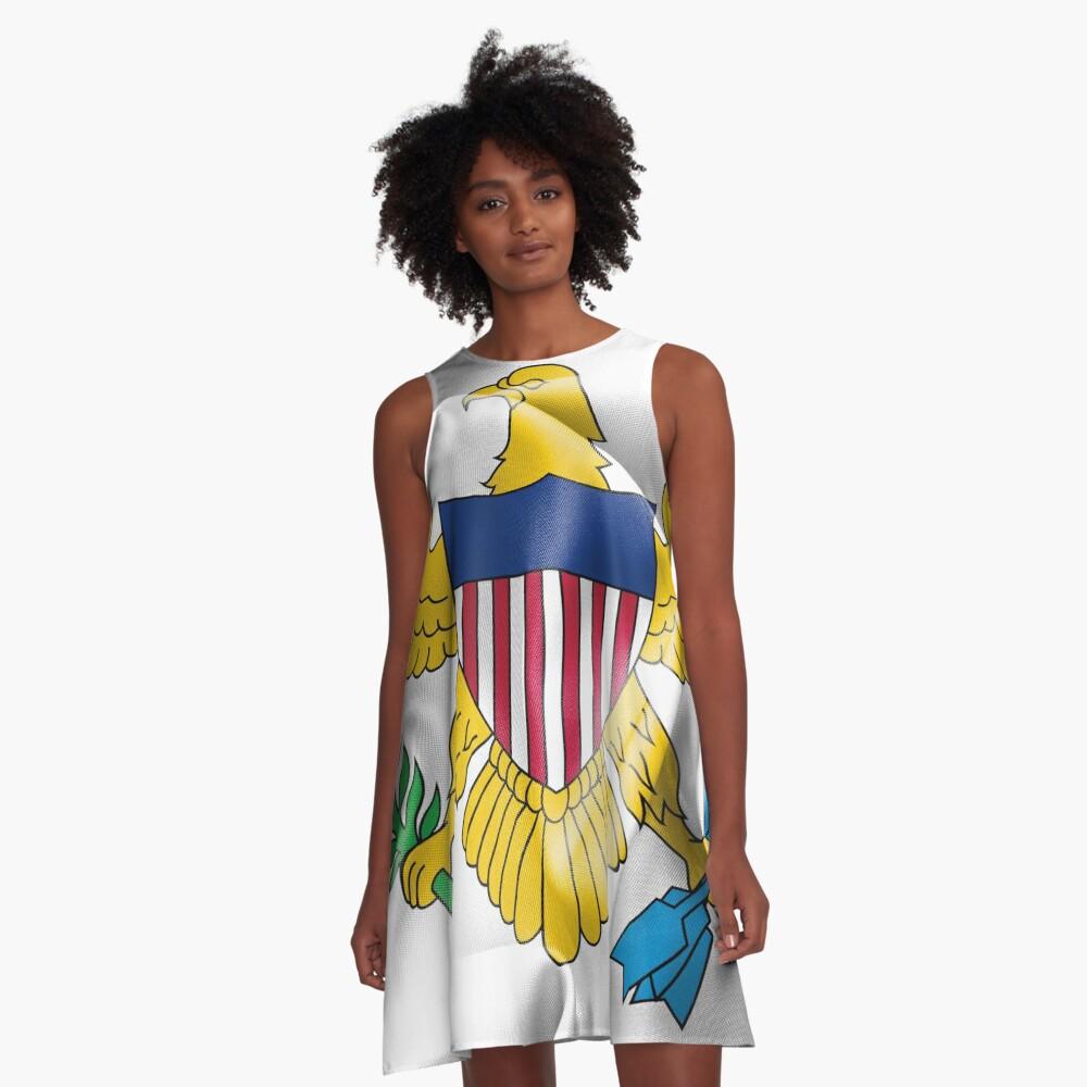 United States Virgin Islands Flag A-Line Dress