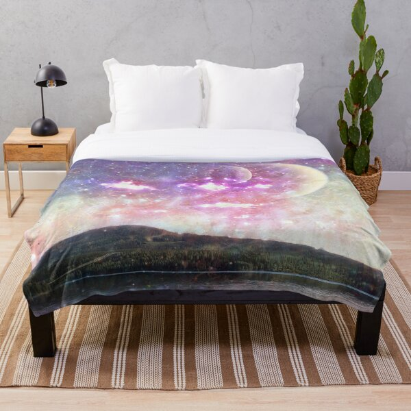 """""""Another World"""" - view of a distant planet Throw Blanket"""