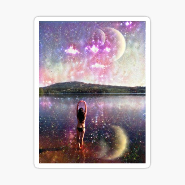 """""""Another World"""" - view of a distant planet Sticker"""