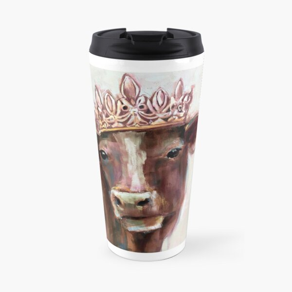 A Cow with a Crown! Travel Mug