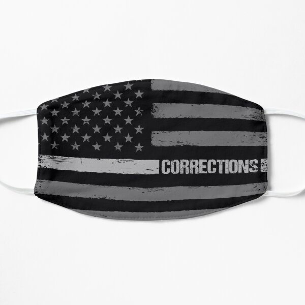 Corrections - Correctional Officer Thin Silver Line flag Mask