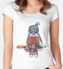 Christmas Splatoon Inkling  Women's Fitted Scoop T-Shirt