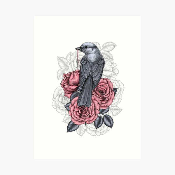 The bird with the silver key  Art Print