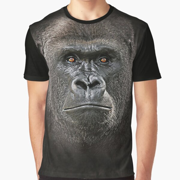 Big Face Lowland Gorilla 3D Gift  Graphic T-Shirt