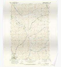 USGS Topo Map Washington State WA Oakesdale 242893 1964 24000 Poster