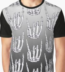 Rock On Skeleton Hand  Graphic T-Shirt